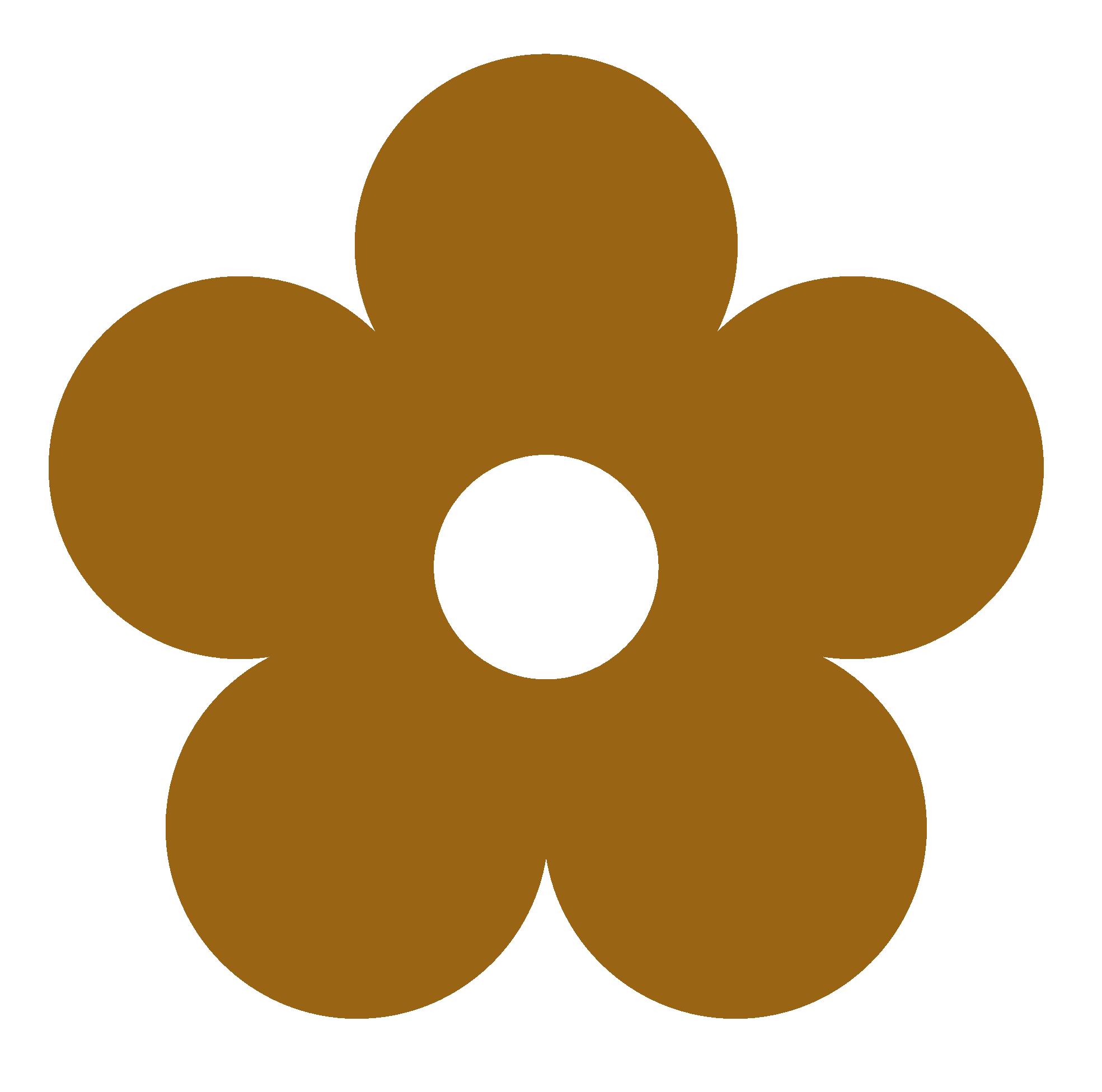 Colors clipart beige. Retro flower color colour