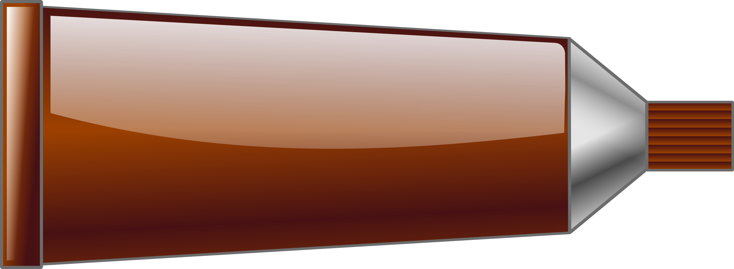 Color tube big image. Colors clipart brown