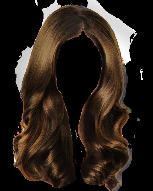 Long wig clip art. Colors clipart brown hair