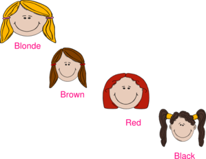 Color images gallery for. Hair clipart different hair