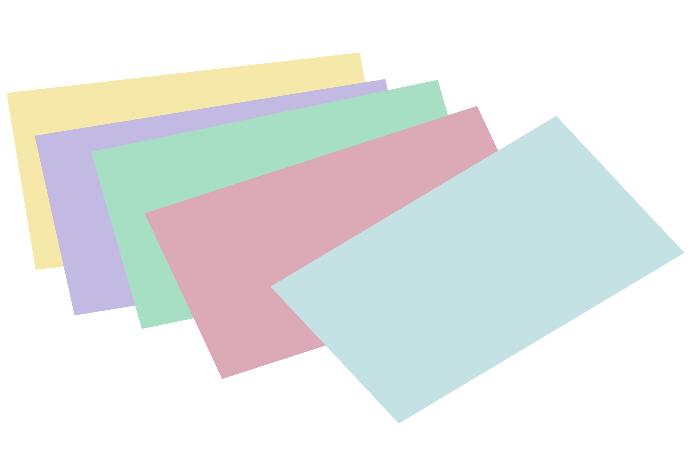 Color clipart card. Stack of unlined colored