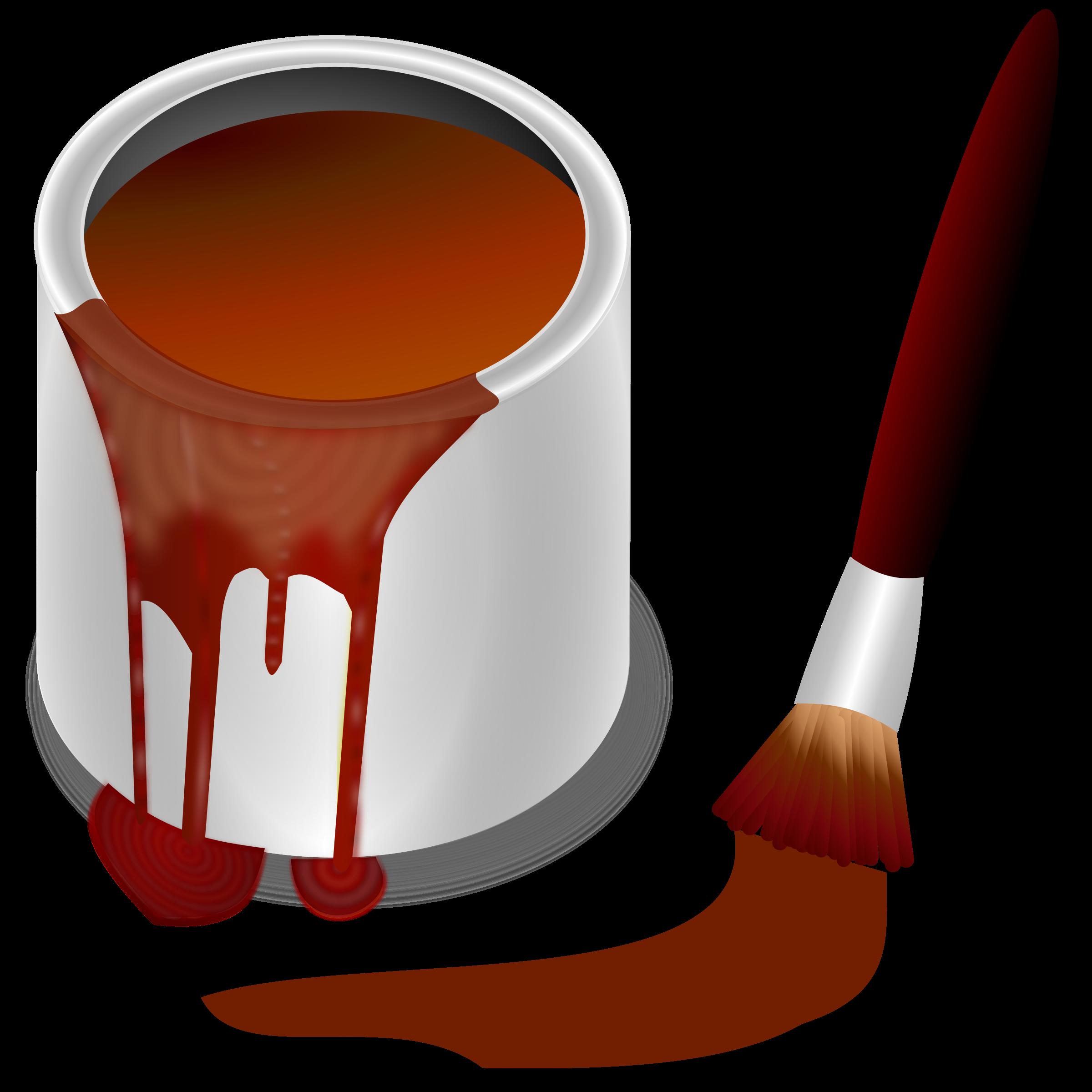 Color clipart cartoon. Bucket brown