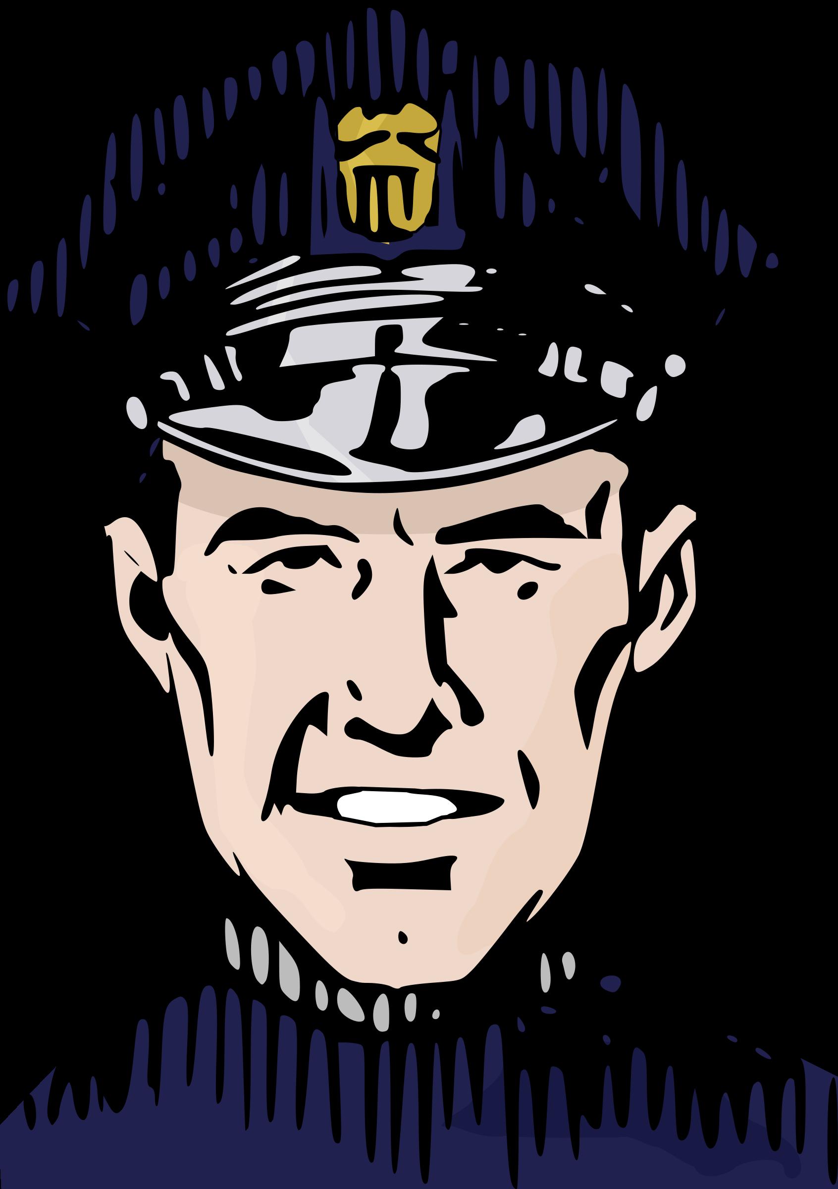 Policeman colour big image. Color clipart city