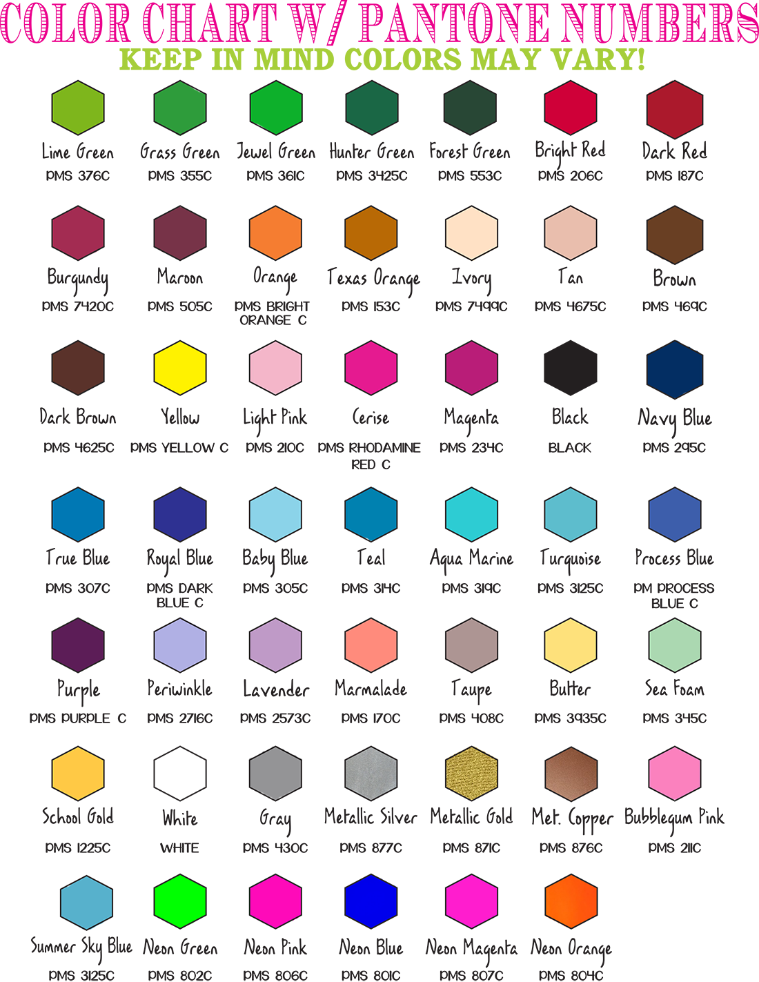 Illustrated drinkware our ink. Color clipart color chart