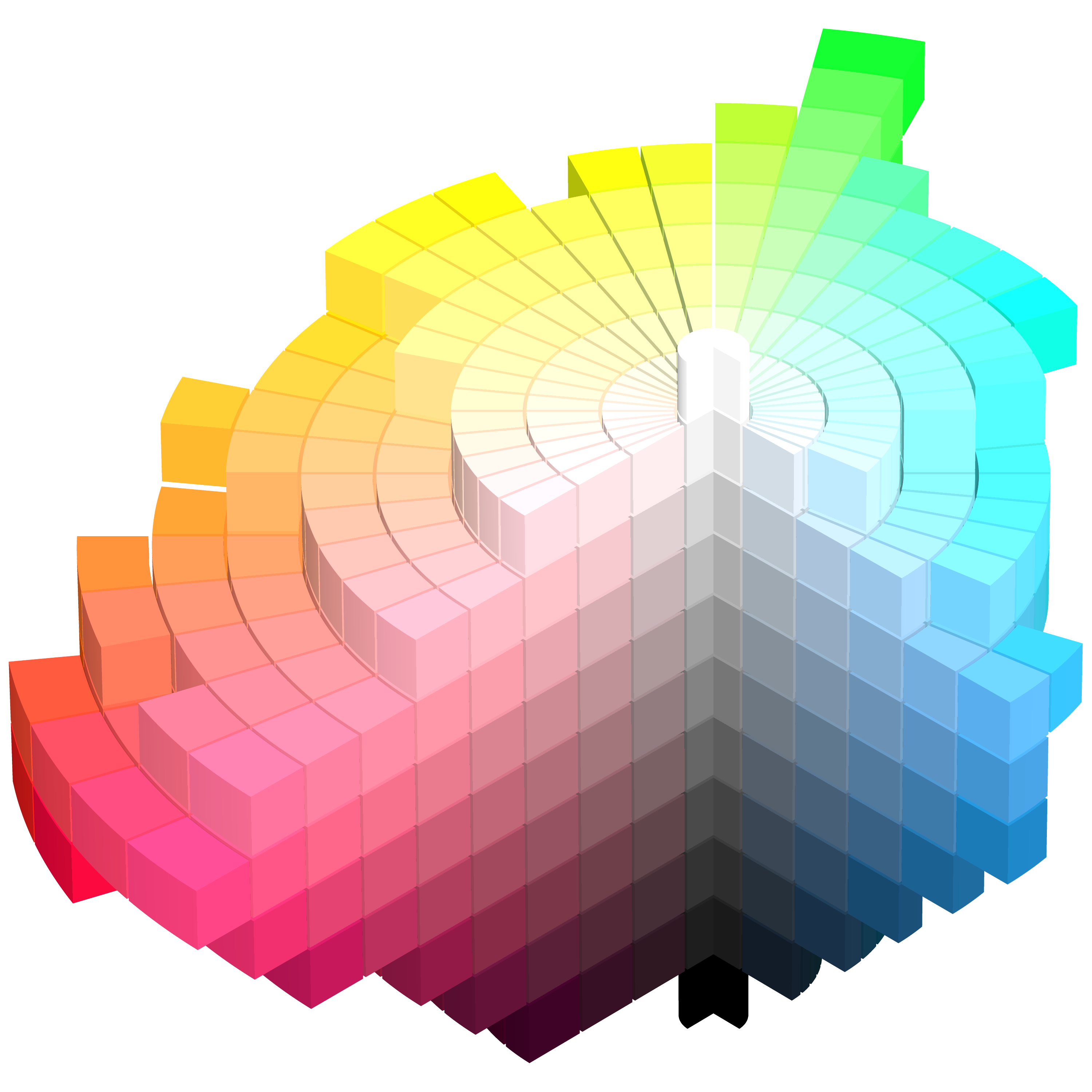 Munsell system has five. Color clipart color chart