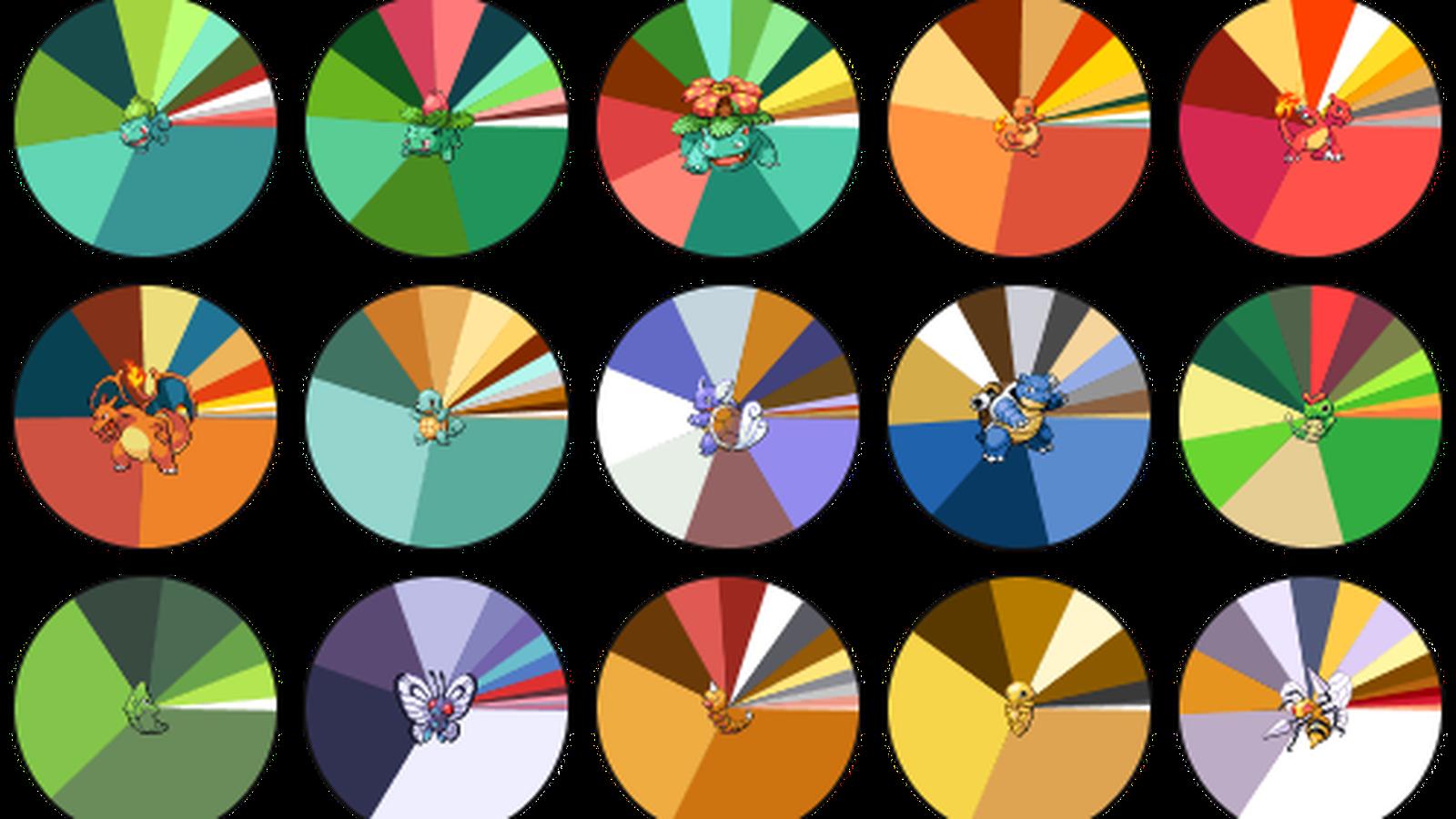 Color clipart color palette. Pokemon palettes are like