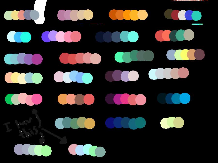 F u palettes total. Color clipart color palette