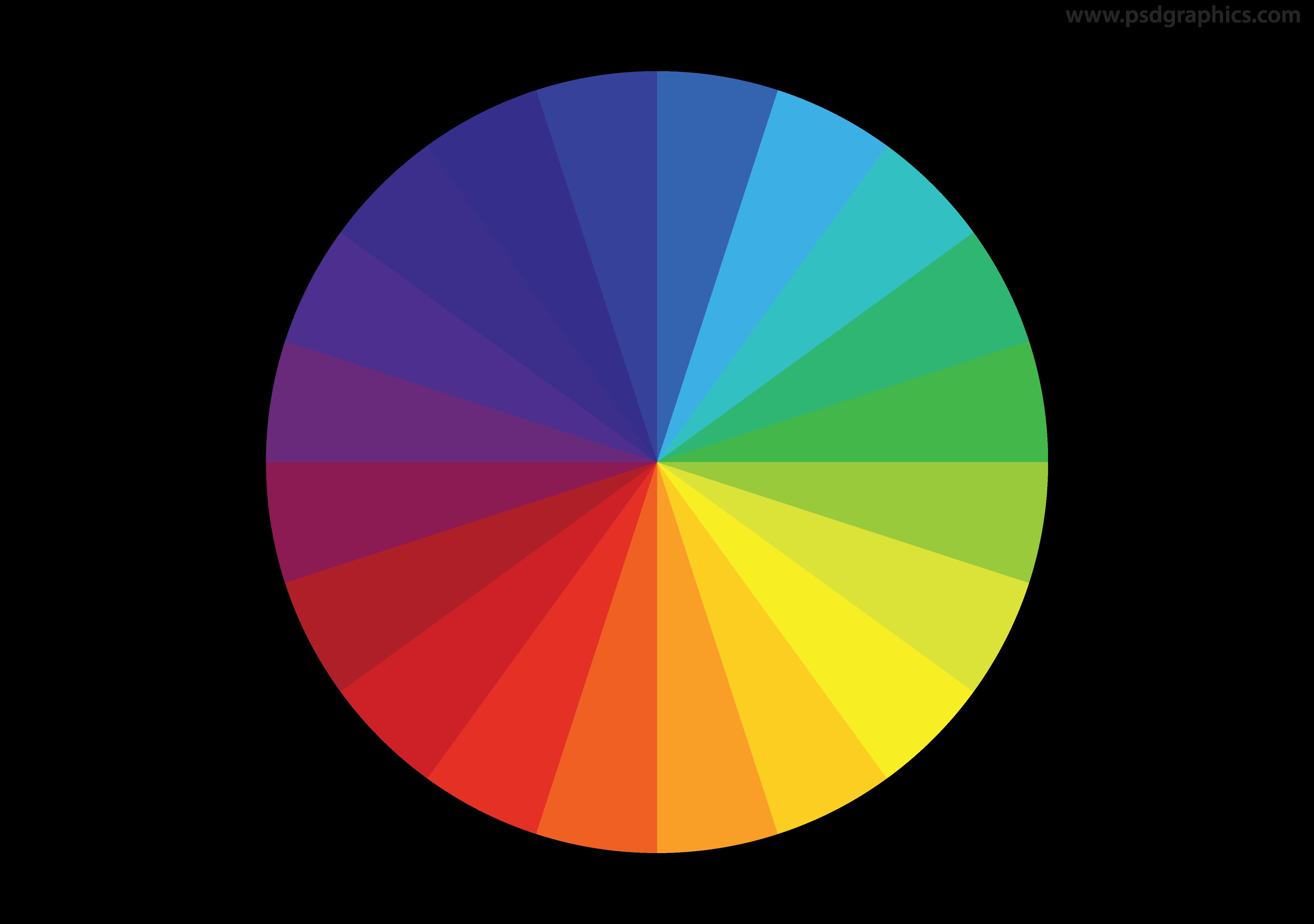 Color clipart color wheel. Vector psdgraphics