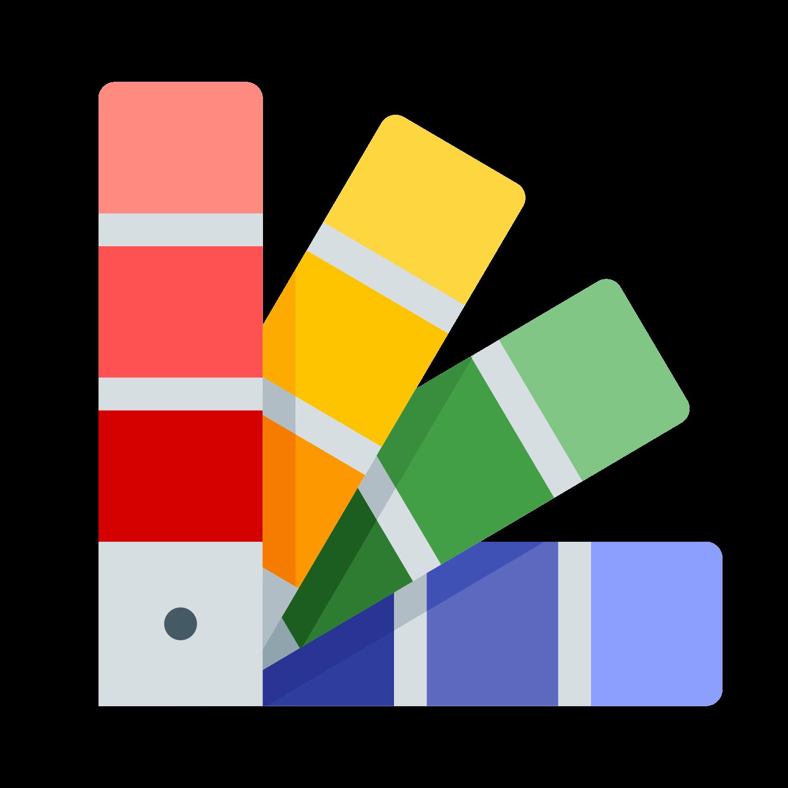 Paleta de icono descarga. Color clipart colores