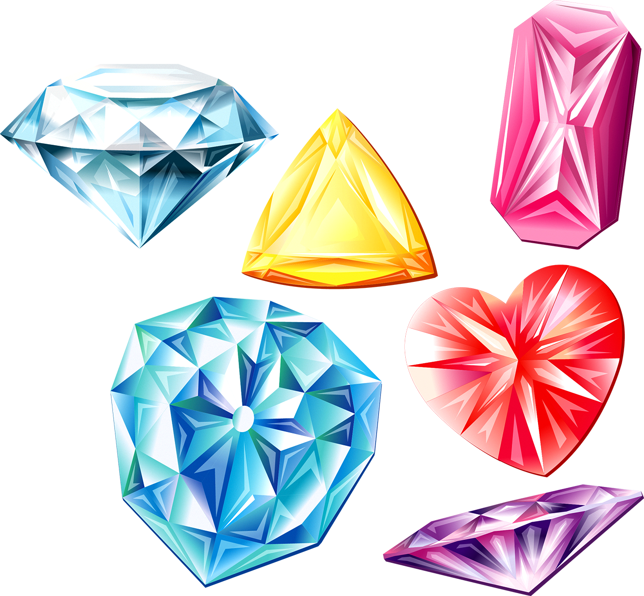 Color clipart colores. Diamante de la piedra
