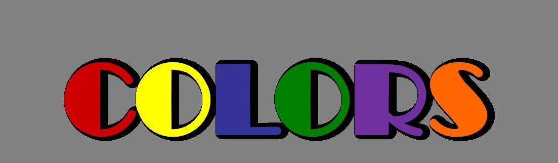 English exercises true colors. Color clipart colores