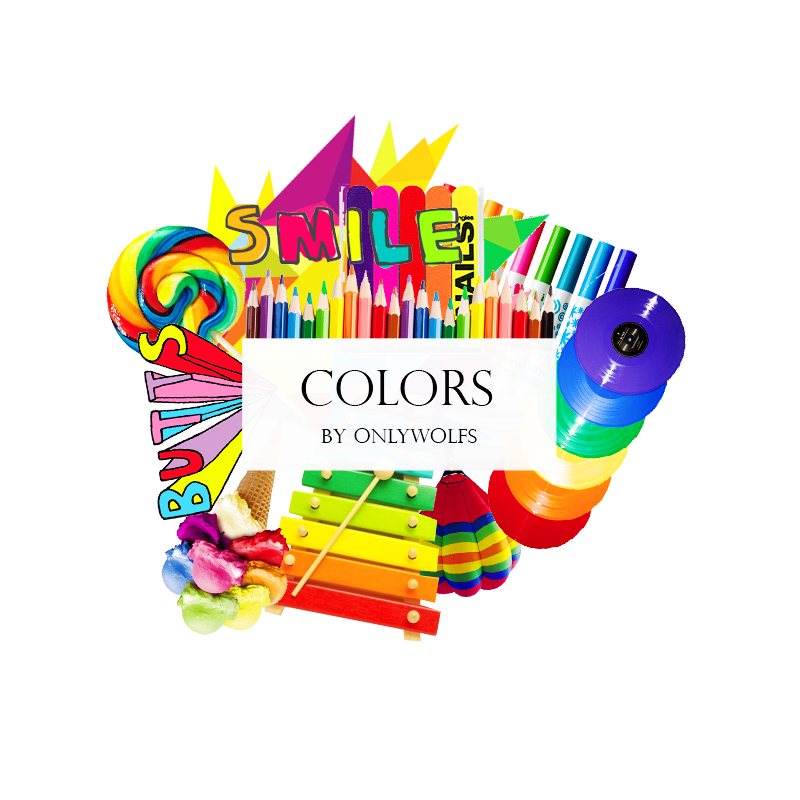 Color clipart colores. Colors pack by onlywolfs