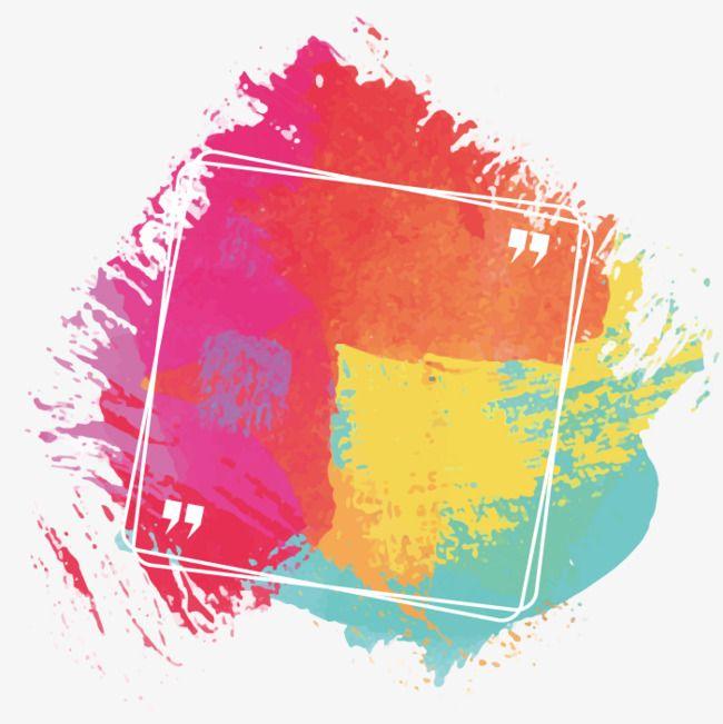 Shading paint blots colour. Color clipart colores