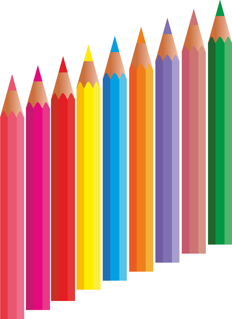 Colors clipart colouring pencil.  colored clipartlook
