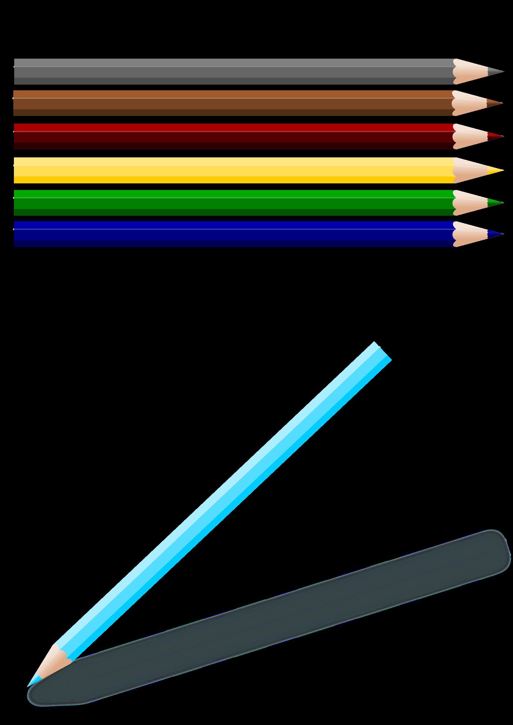 Pencil clipart colouring pencil. Colored pencils big image