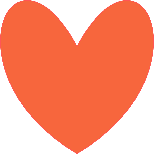 Orange heart clip art. Color clipart coral