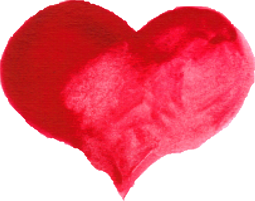 Water color heart free. Hearts clipart brush stroke