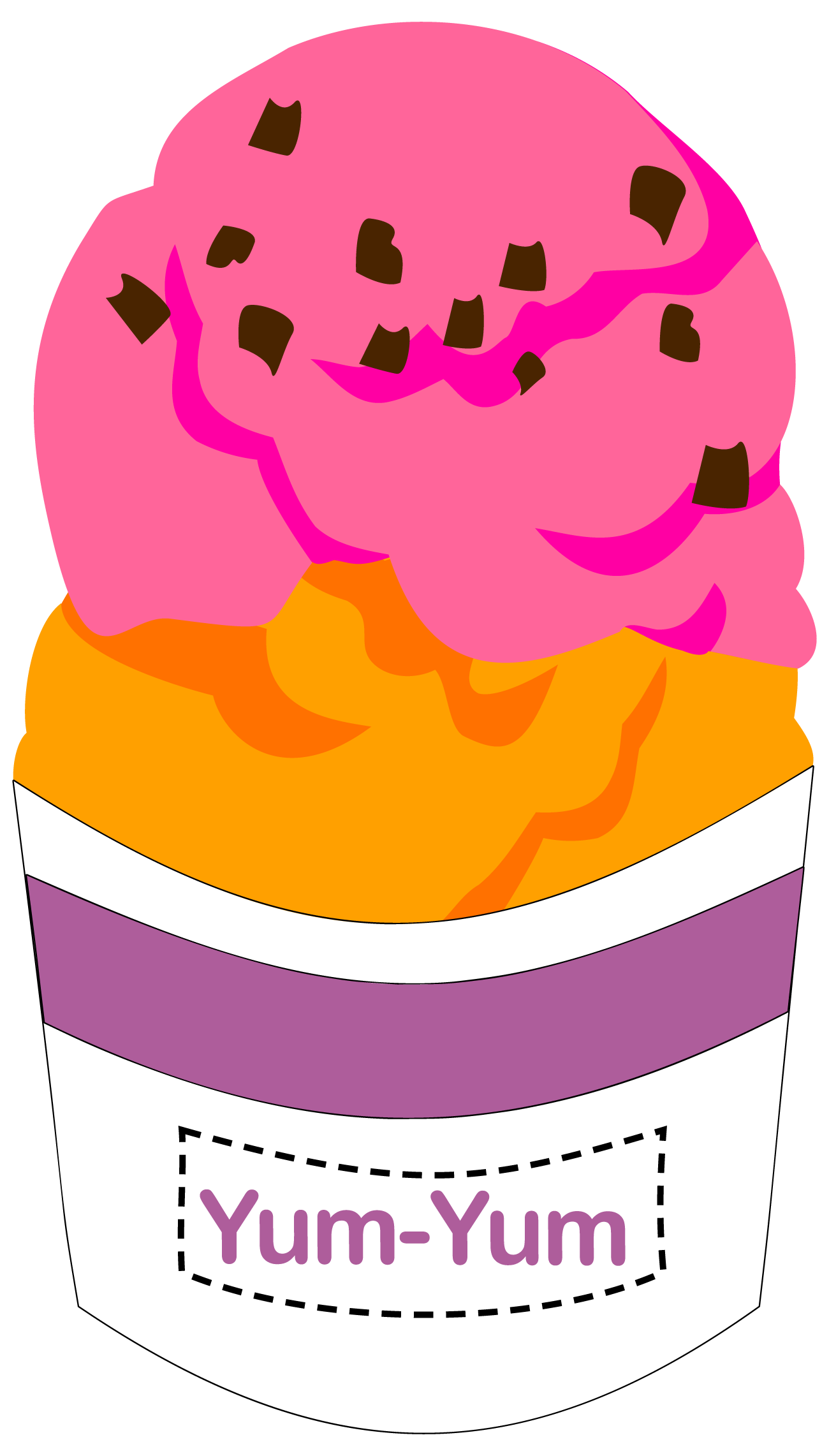 Color clipart coral.  ice cream n