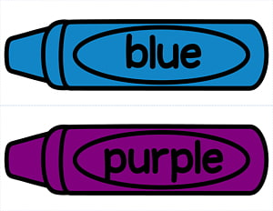 Blue and purple crayons. Crayon clipart coloured crayon