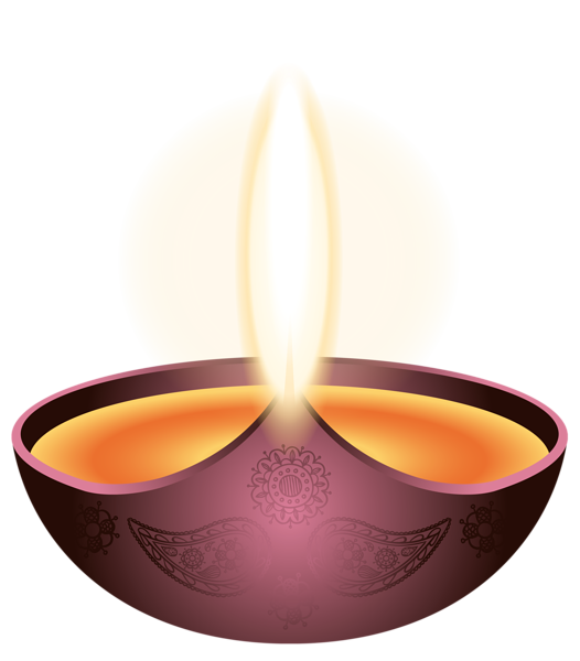 Lamp clipart indian oil. Purple candle happy diwali
