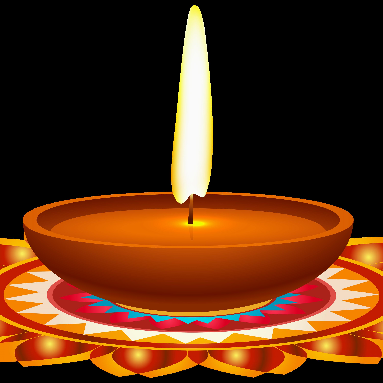 Colors clipart diwali. Oil lamp candle pencil
