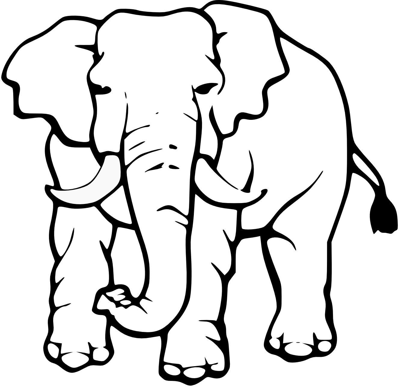 Missions clipart black and white. Elephant silhouette trunk up
