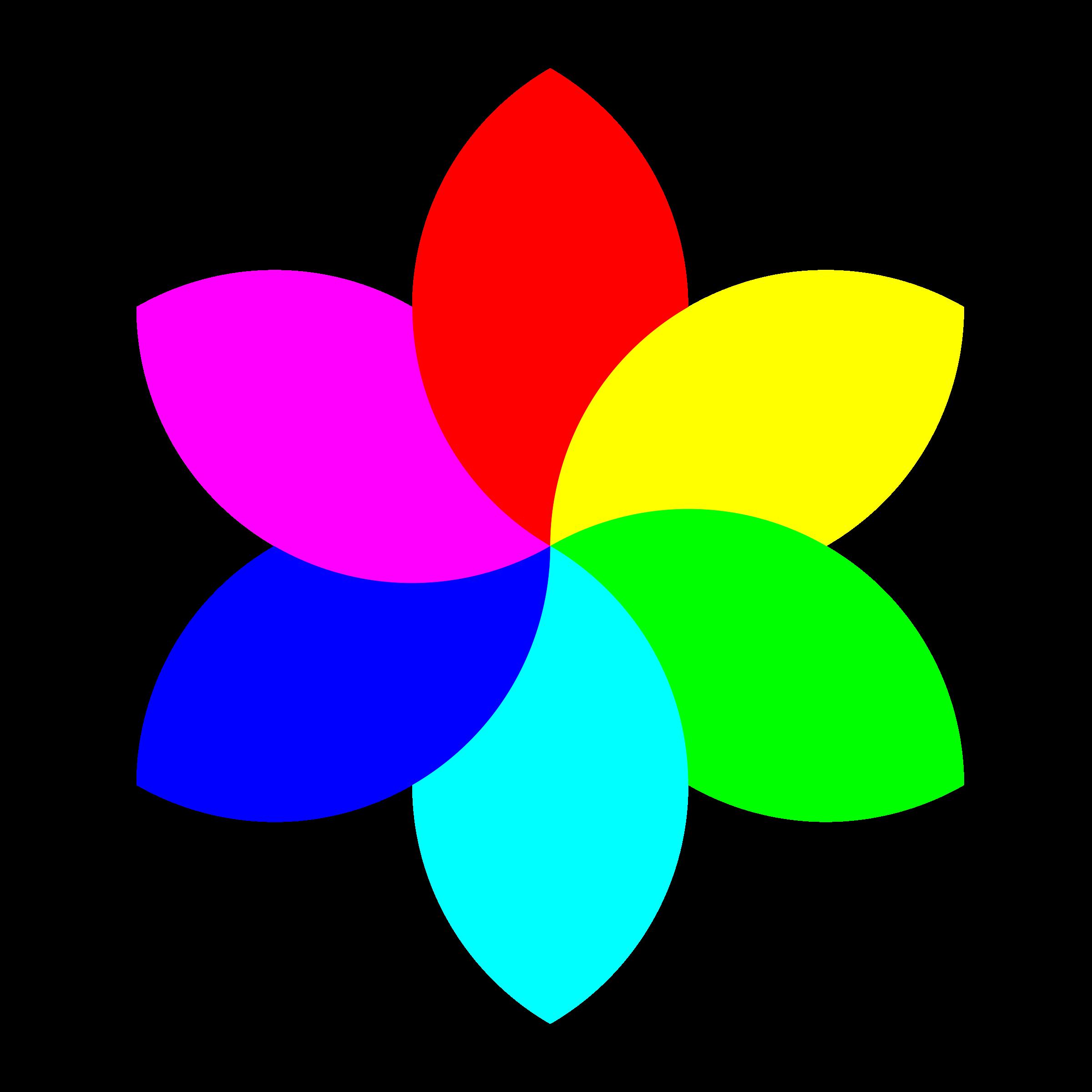 Colors clipart flower. Color football remix big