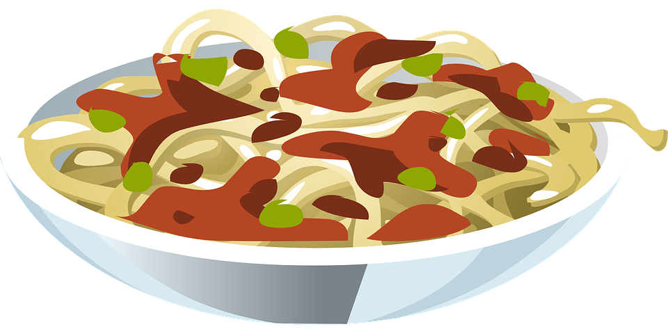 Bowl pasta pencil and. Italian clipart item
