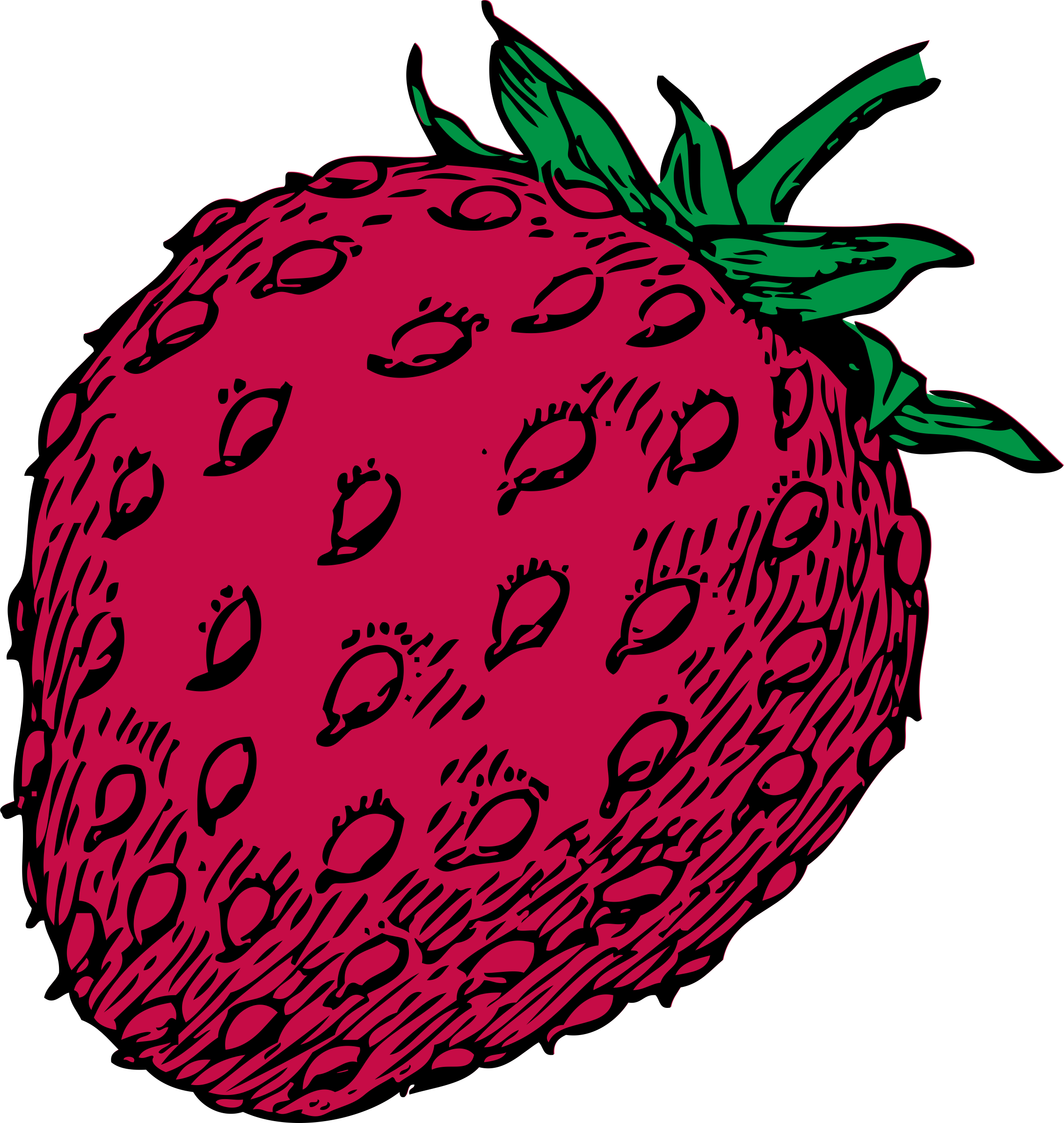 Color clipart fruit. Strawberry big image png
