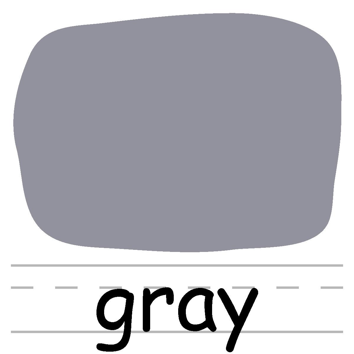 Gray color clip art. Colors clipart grey