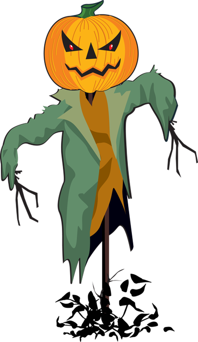 Scarecrow clipart animated. Halloween free collection download