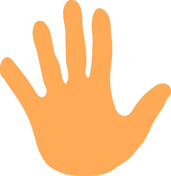 Hands various colors clip. Color clipart hand palm