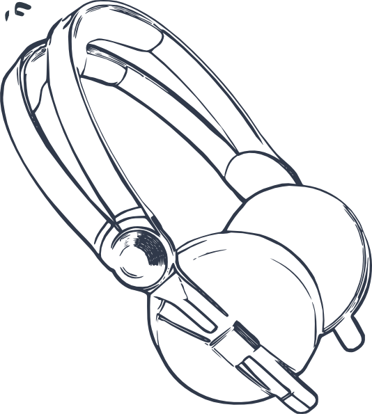 Longhorn clipart sketch. Headphone drawing at getdrawings