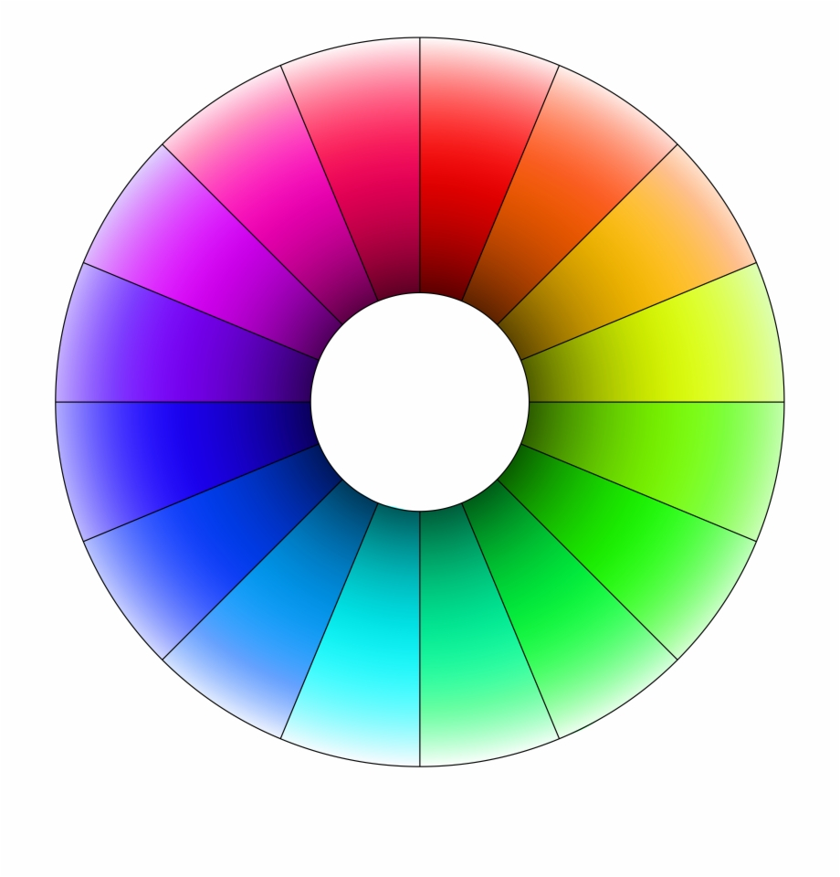 Colors clipart hue. Color wheel complementary computer