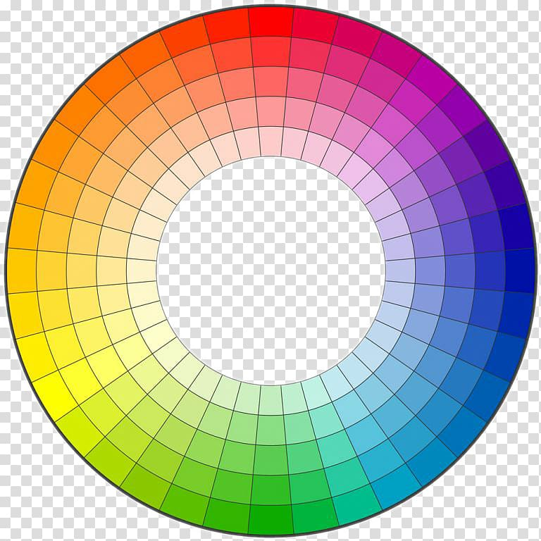 Color wheel complementary ring. Colors clipart hue