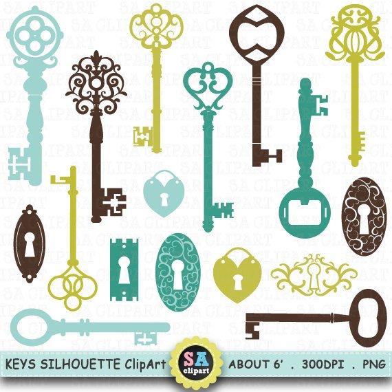 Keys clipart llave. Silhouette key shihouette clip