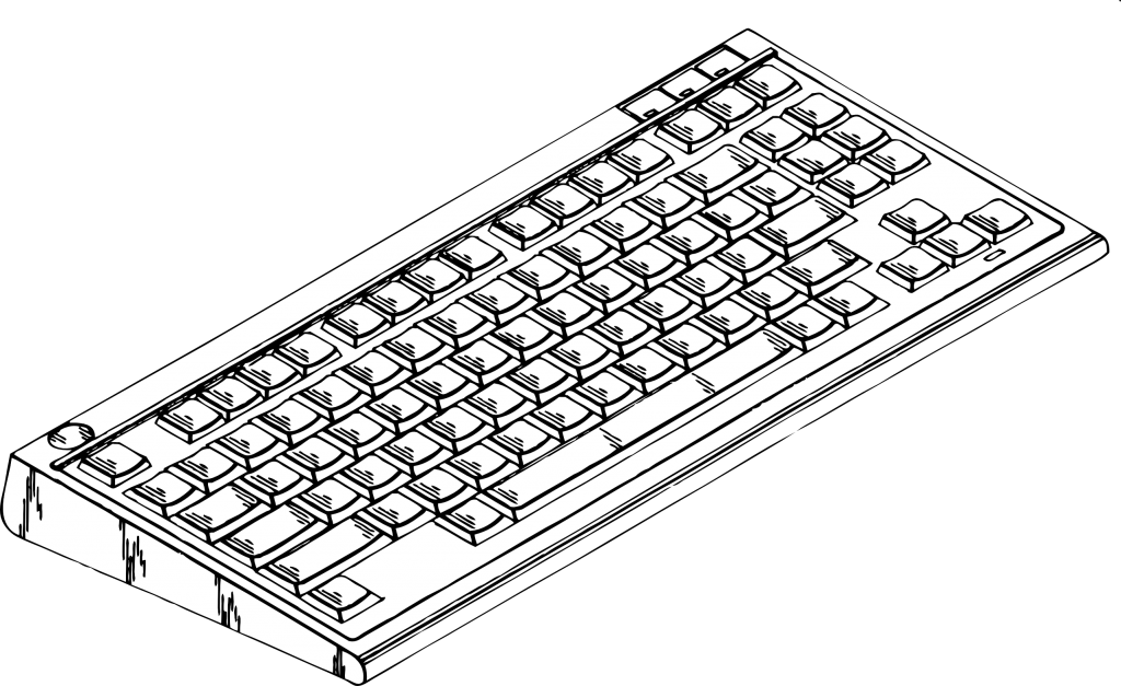 Keyboard clipart coloring page.  clipartist of info