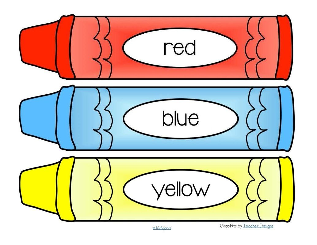 Crayon clipart 8 primary color. Pin on back to