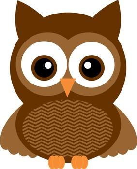 Chevron fall . Colors clipart owl