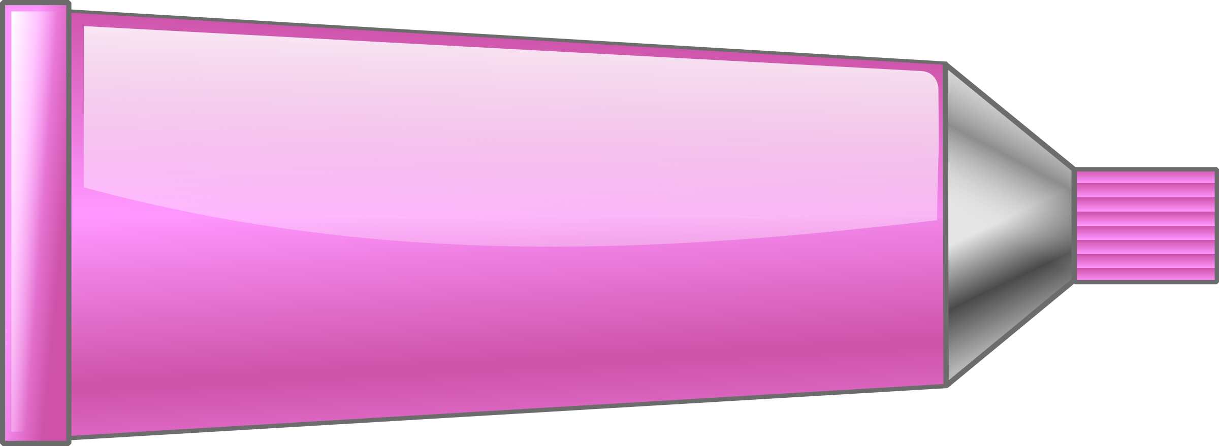 Color tube. Colors clipart pink