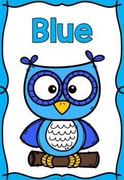 Color colour posters owls. Colors clipart poster