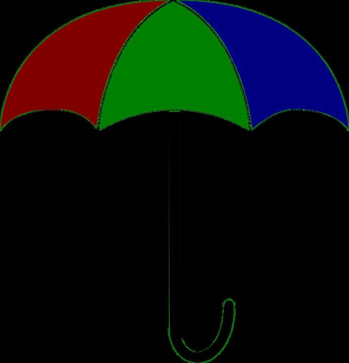 Color clipart rain. Satikka clipground umbrella