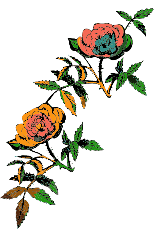 Decoration in i royalty. Color clipart rose