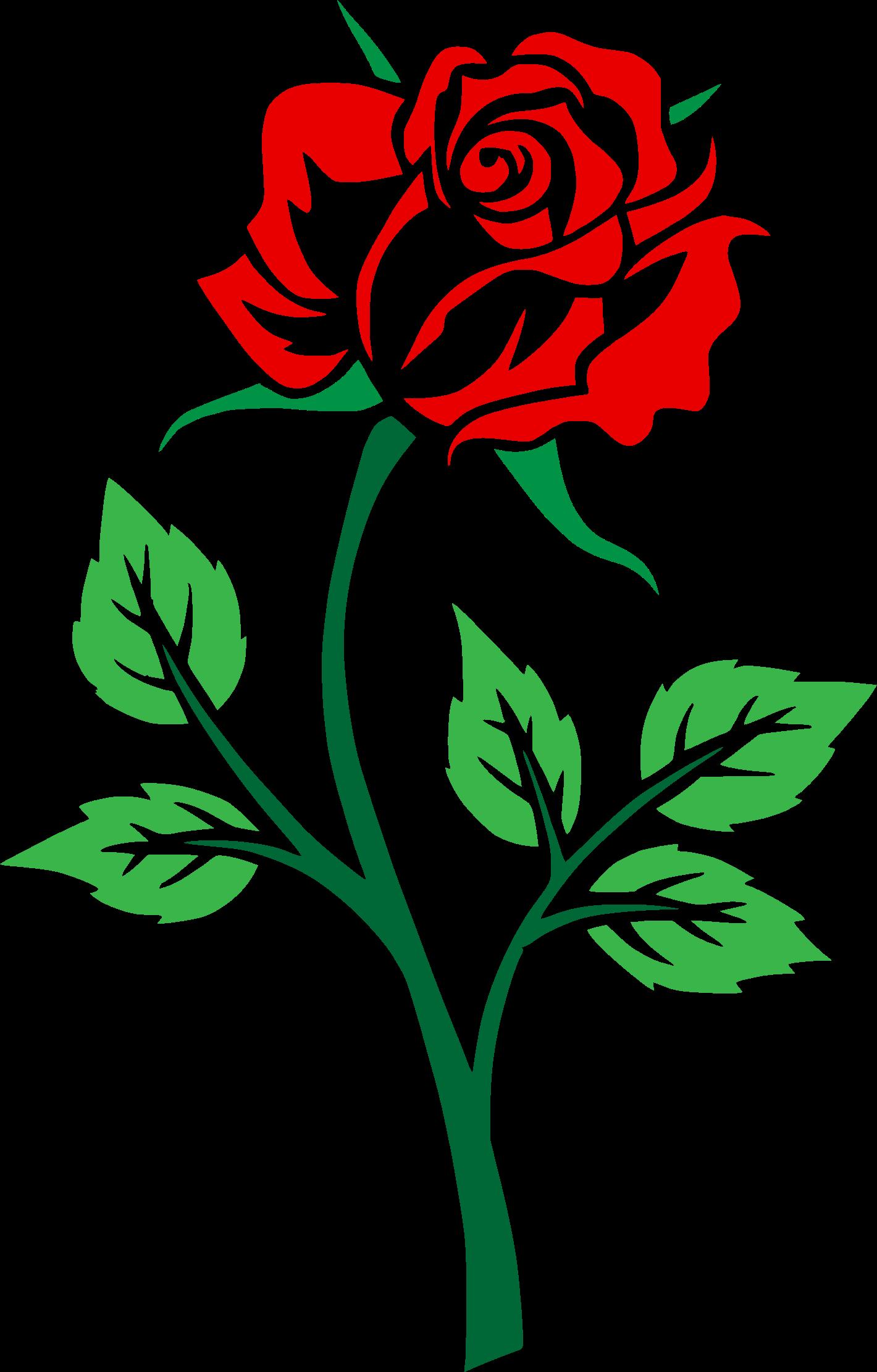 Colored big image png. Rose clipart leaf
