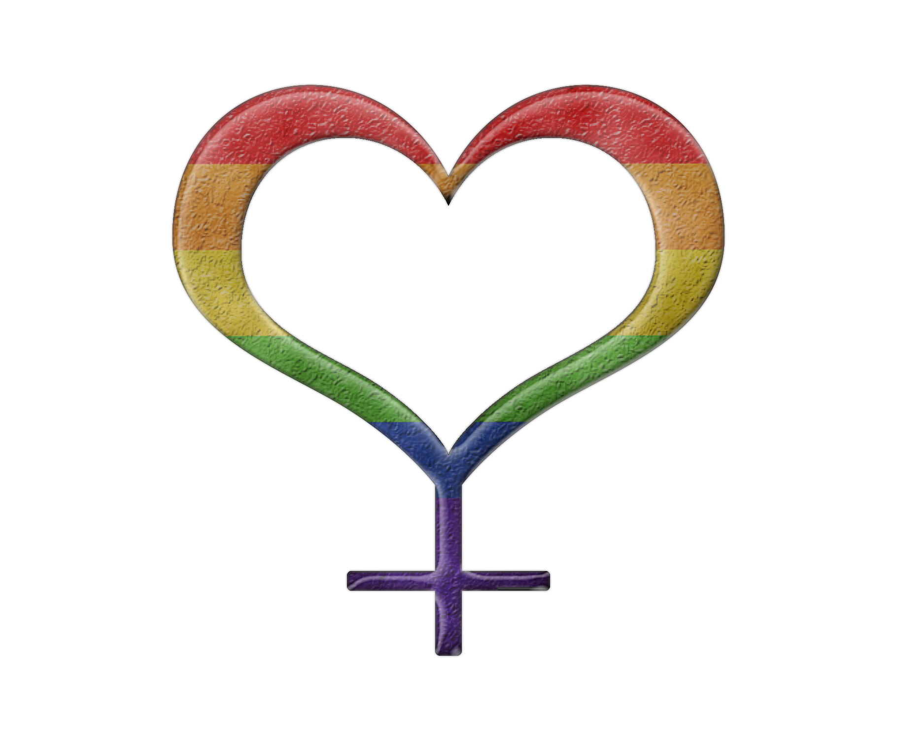 Lesbian pride rainbow colored. Heartbeat clipart heart tattoo design