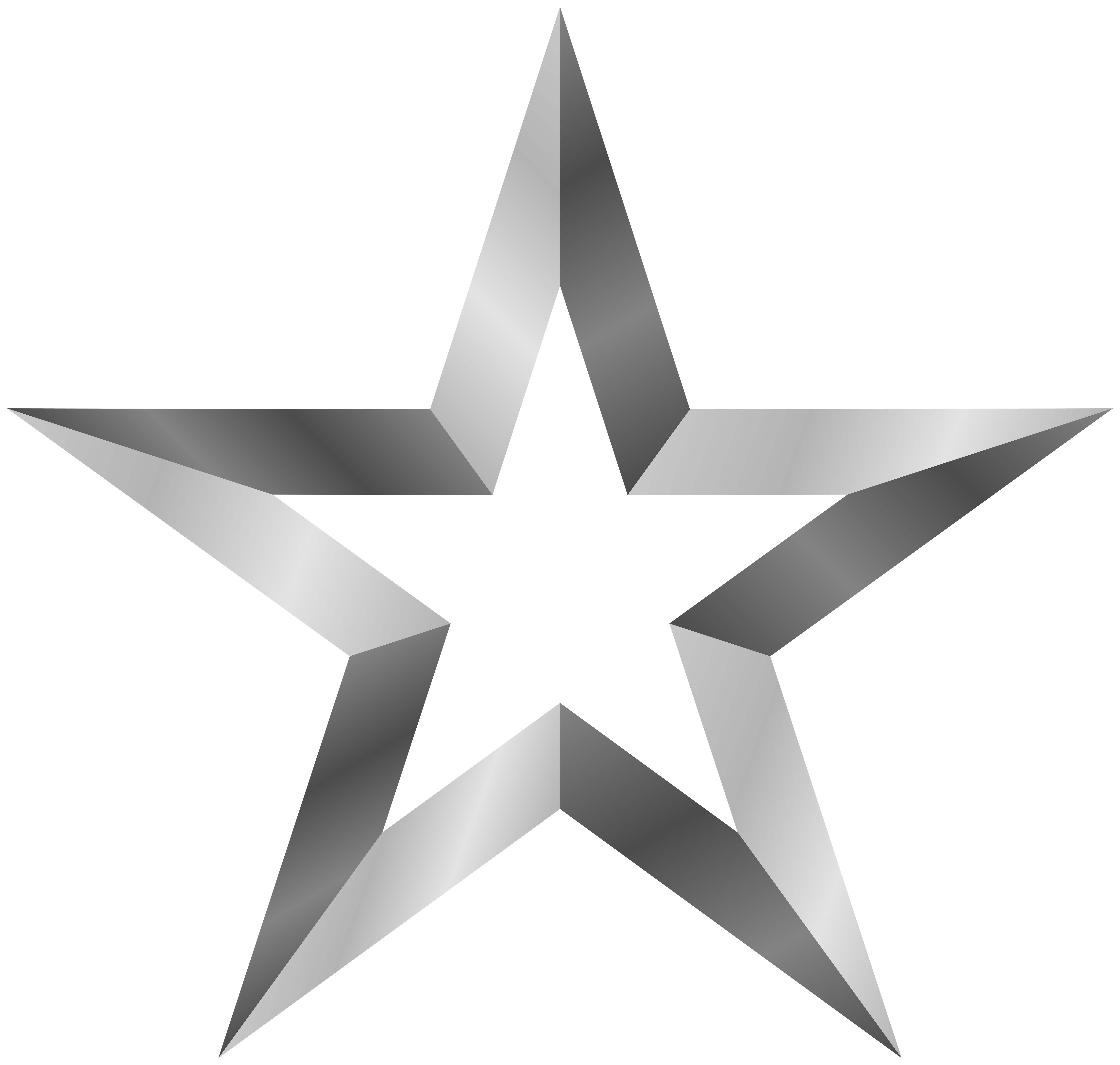 Color clipart silver. Clip art star transparent