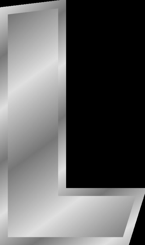 Color clipart silver. Effect letters alphabet medium