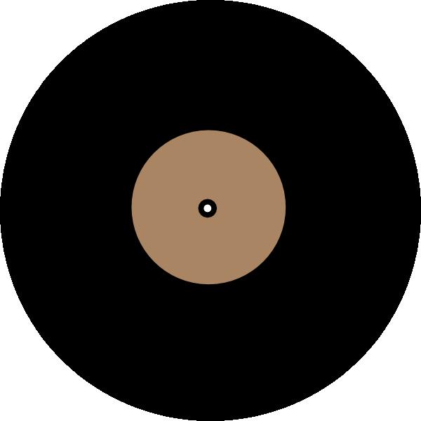 Vinyl record clip art. Color clipart solid