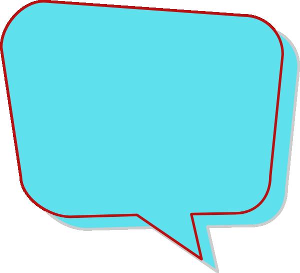 Aqua Speech Bubble Clip Art at Clker