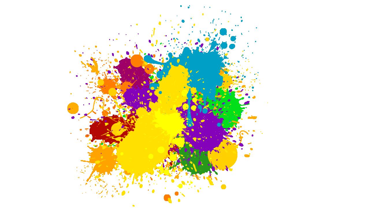 collection of colours. Colors clipart splash